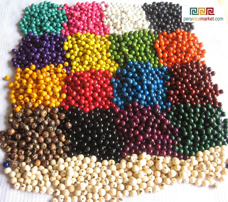 Acai beads all colors Amazon forest Peru