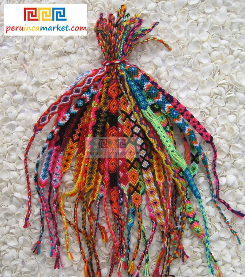 Peruvian Cusco friendship bracelets