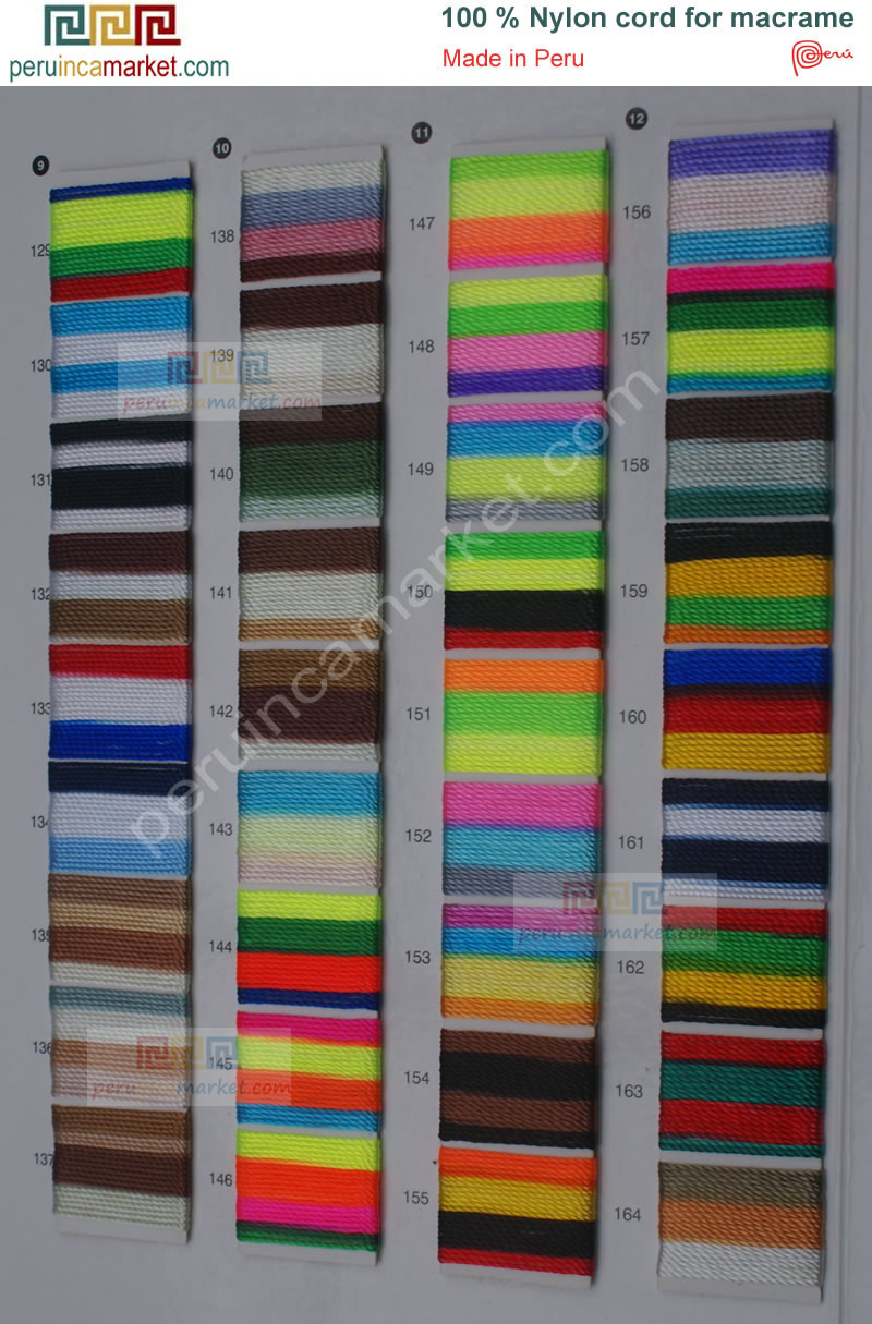 Nylon colors catalog, high quality Peruvian thread