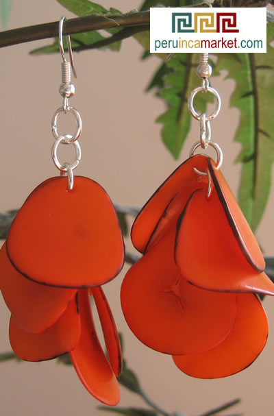 tagua slices earrings