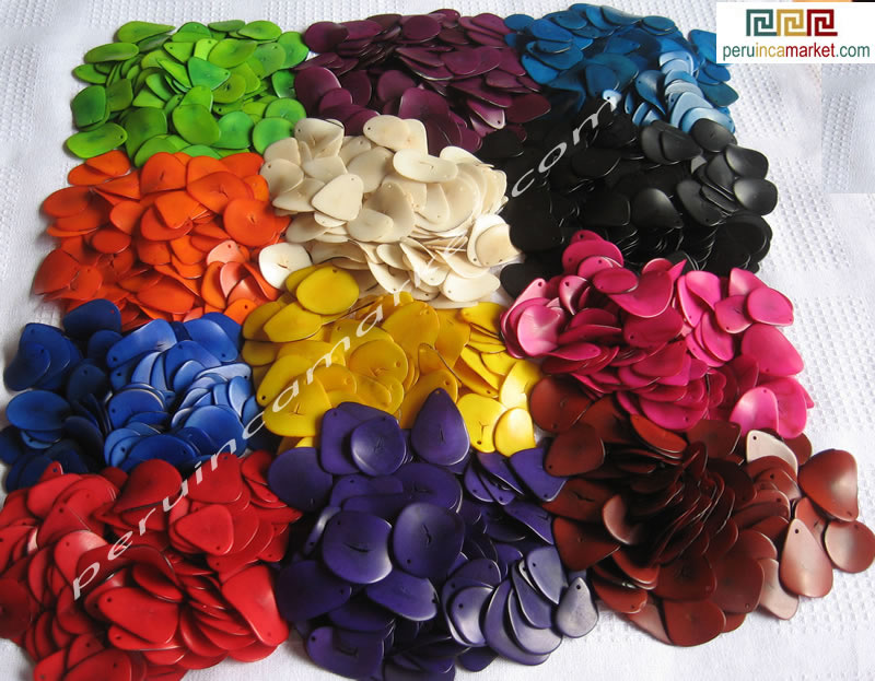 tagua slices from Peru