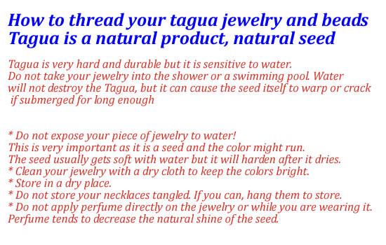 how to take care of your tagua jewelry