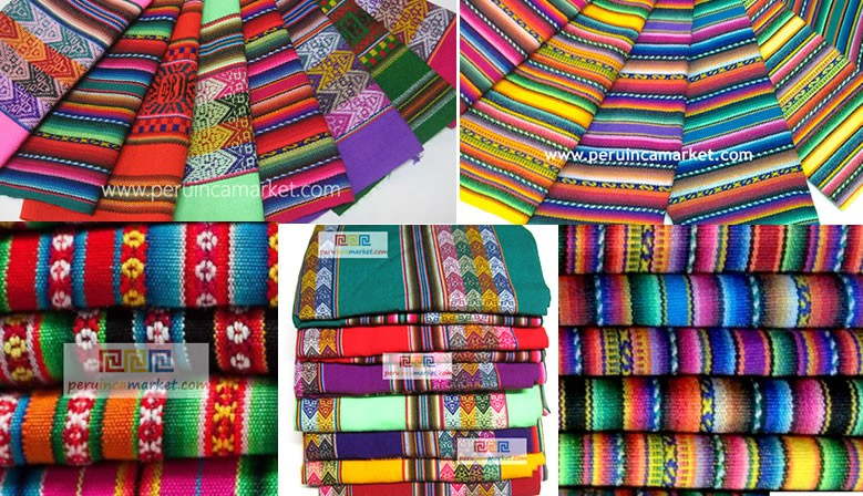 Peruvian fabric, blankets from Peru from 1 meter to 100 meter - sold by the yard
