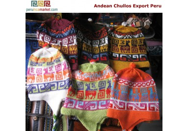 Chullos made in Peru 40 % Alpaca wool shi hats