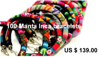 100 Peruvian Manta Inca bracelets from Cusco
